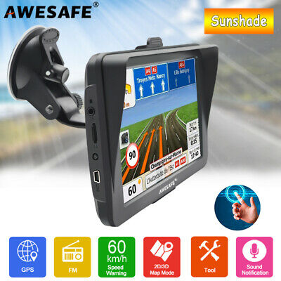AU79.99 • Buy 7 AWESAFE Truck Navigator GPS Navigation Portable SAT NAV With Parasol AU Map