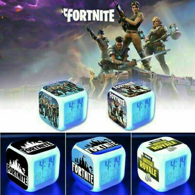 AU17.99 • Buy HOT FORTNITE GAME Color Changing Night Light Alarm Clock Kids Toy Game Gift AU