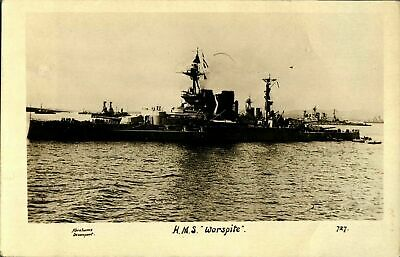 £16 • Buy HMS Warspite RPPC Postcard Real Photograph Royal Navy Military Antique