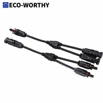 AU16.49 • Buy 1Pair Solar PV Panel Cable MC4 Y Branch Connector With MMF/FFM Parallel Splitter