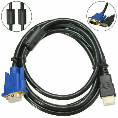£4.71 • Buy 1.8M HDMI Male To VGA Video Converter Adapter Cable Cord For PC DVD 1080P HDTV S