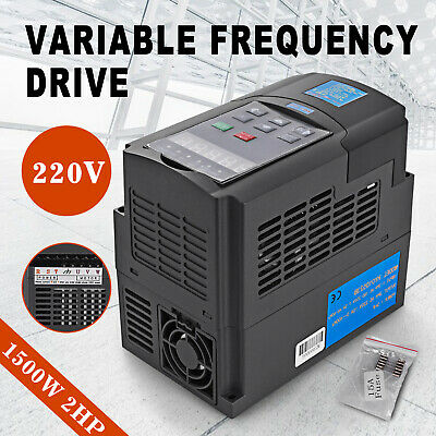 1.5KW 2HP Single To 3 Phase Variable Frequency Drive Inverter VFD VSD 220V • 48.92£