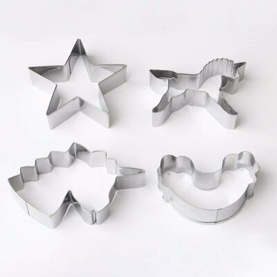 AU10.86 • Buy 4 Pieces Unicorn Cookie Cutter Set, Stainless Steel