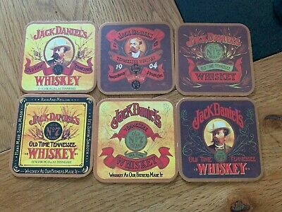 Set Of 6 Jack Daniel's Coasters / Beer Mats VERY RARE FROM 1990 • 15.95£