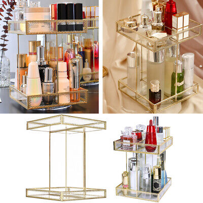360 Rotating Makeup Organiser Case Cosmetic Storage Box Perfume Display Stand • 20.95£
