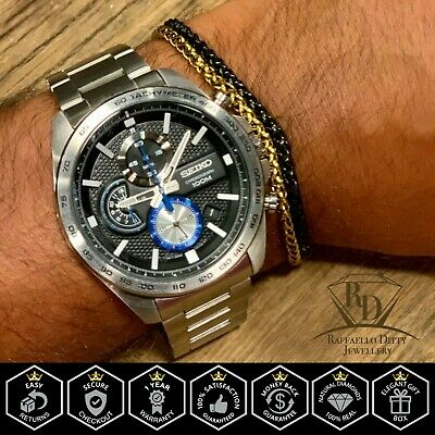 $ CDN276.01 • Buy Seiko SSB257P1 Gents Chronograph Date Display Watch Stainless Steel 100m WR
