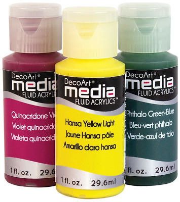 DecoArt Media Fluid Acrylic Paint - 1oz • 5£