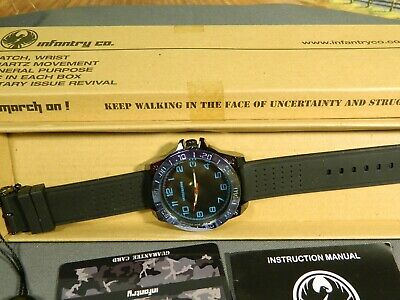 Men's Watch Infantry Watch Co. IF-011-BL-R  INFILTRATOR  BLUE #s, RUBBER BAND • 3.67£