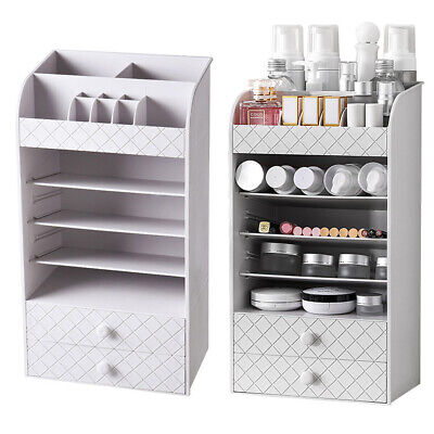 Cosmetic Makeup Jewelry Organiser Nail Storage Box Vanity Drawer Display Stand • 18.95£