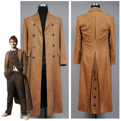 Who Is Doctor Who Dr. Brown Cosplay Costume Long Trench Coat Uniform • 66.99£