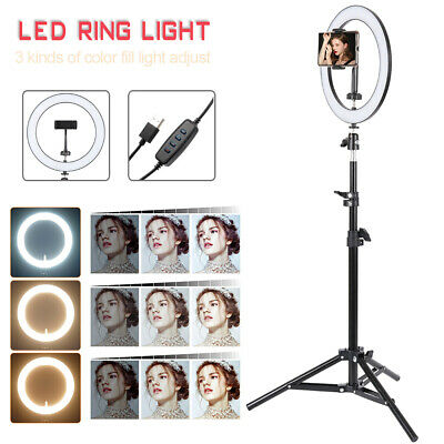 AU26.85 • Buy 10  Phone Selfie LED Ring Light With Stand For Youtube Tiktok Makeup Video Live