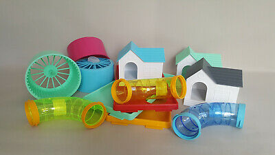 Hamster Cage Pet ACCESSORIES House Clips Wheel Bottle Platforms Tubes Rodents • 9.75£