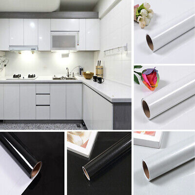 Self-Adhesive Kitchen Cupboard Wallpaper Roll Vinyl Furniture Sticker Cover DIY • 13.95£