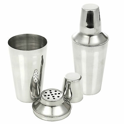 Stainless Steel Cocktail Shaker Mixer Drink Pub Alcohol Party Martini Bar Mojito • 12.40£