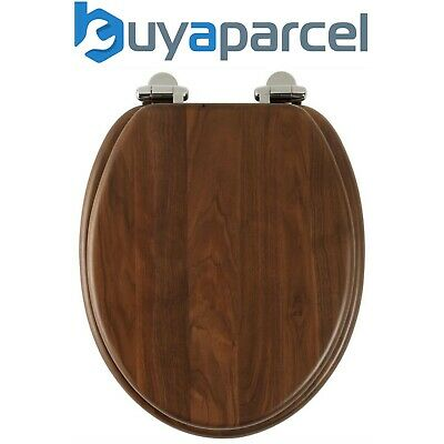 Roper Rhodes Walnut Brown Wooden Soft Close Toilet Seat Top Fix Quick Release • 86.44£