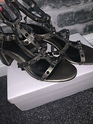 Missguided Studded Heeled Sandals. Size 5. Worn For One Night. Great Condition • 8.60£