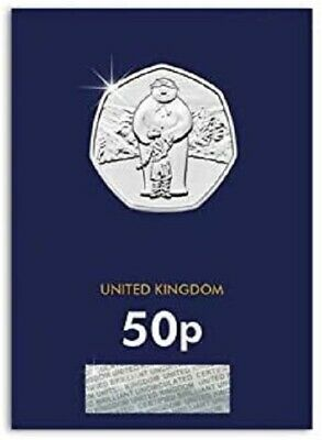 2019 The Snowman Bu Uncirculated 50p Fifty Pence - Official Uk Issue • 7.49£