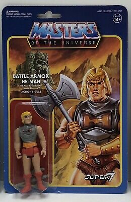 $24.99 • Buy Masters Of The Universe-BATTLE DAMAGED ARMOR HE-MAN ReAction Super7-MOTU-(NEW)