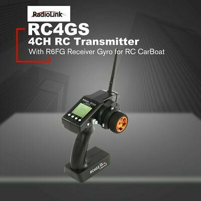 RadioLink RC4GS 4 Chanel Remote Control Transmitte & R6FG Receiver With Gyro UK • 39.99£