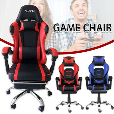 AU128.39 • Buy  Gaming Chair Office Computer Leather Chairs Racer Executive Racing Seat