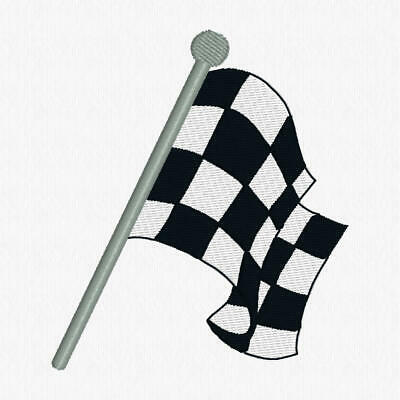 Embroidered Personalised Towels And Tea Towels, Car Towels, Checkered Flag 1 • 7.50£