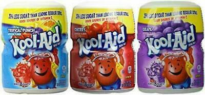 Kool-Aid Drink Mix Pack, Tropical Punch, Cherry & Grape (Pack Of 3 Containers) • 18.41£