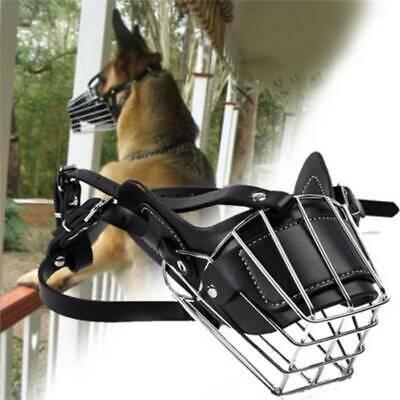 £10.60 • Buy Safe Adjustable Metal Wire Basket Dog Muzzle Outdoor Anti-Bite Products 1pc C