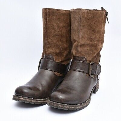 Clarks 66576 Majorca Isle Boot Belted Motorcycle Womens Leather Boots Sz 7.5 • 50.98£