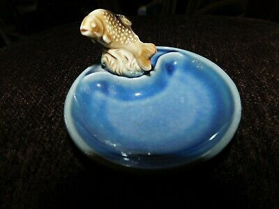 Collectable Wade Irish Porcelain Whimtrays Pin Tray & Leaping Salmon Whimsy • 12.50£