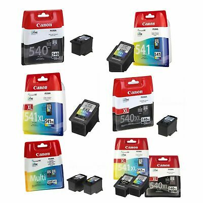 Genuine Canon PG-540 XL 540 CL-541 XL Ink Cartridges For Pixma MG2150 MG3650 Lot • 39.99£