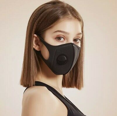 $ CDN8.99 • Buy [2-Pack] Breathable Reusable Washable Flexible Face Mask With Valve