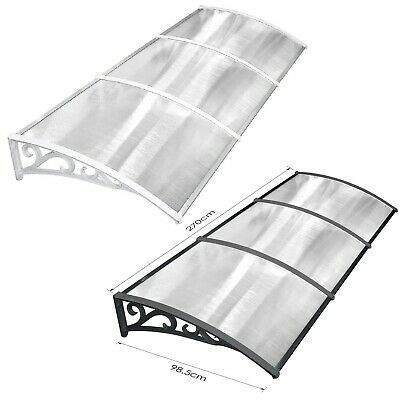£53.99 • Buy 270cm Door Awning Shelter Front Back Outdoor Canopy Porch Window Roof Rain Cover