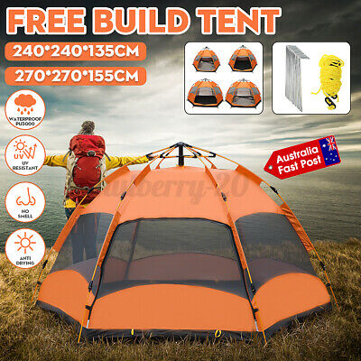 AU90.67 • Buy ❤Automatic Family 4-6 Person Camping Tent Hiking Beach Tents Canvas Rainproof AU