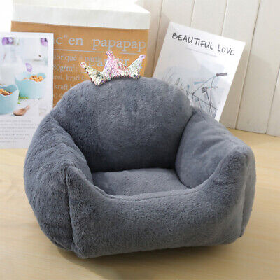 Extra Thick/soft Pet Bed Dog/puppy/cat Beds Sofa Small/medium With Crown Washabl • 16.95£