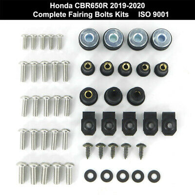 £19.55 • Buy Cowling Fairing Bolts Kit Body Fasteners Screws Fit For Honda CBR650R 2019 2020
