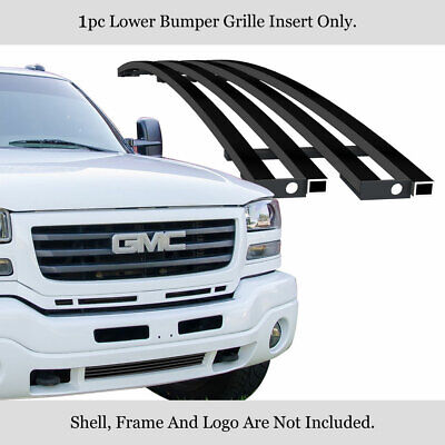 $61.99 • Buy Fits 2003-2006 GMC Sierra 1500/07 Classic Lower Stainless Black Billet Grille