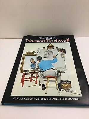 $ CDN19.42 • Buy The Best Of Norman Rockwell 40 Full Color Posters Suitable For Framing