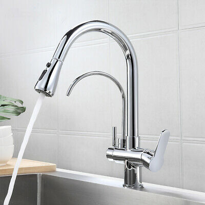 £59 • Buy Chrome Pull Down Kitchen Mixer Taps With Drink 3 In 1 Water Filter Purifier Tap