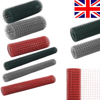 PVC Coated Galvanised Steel Chicken Wire Mesh Aviary Rabbit Pet Fence Wire Net • 13.36£