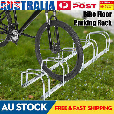 AU76.85 • Buy 1 - 5 Bike Floor Parking Rack Bicycle Storage Stand Steel Silvery