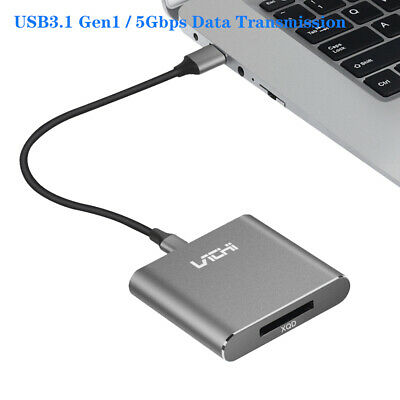 AU26.99 • Buy USB-C XQD Card Reader 5Gbps Data Transmission For Laptop Pad Phone TV Projector