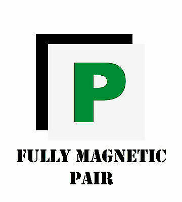 2x Fully Magnetic P Plate - Passed Pass Green Driver Plates For Car Vehicle - UK • 1.99£