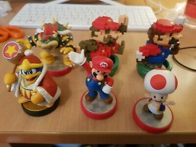 AU100 • Buy 6 X Nintendo Amiibo Lot Mario Bowser Toad King D Lot