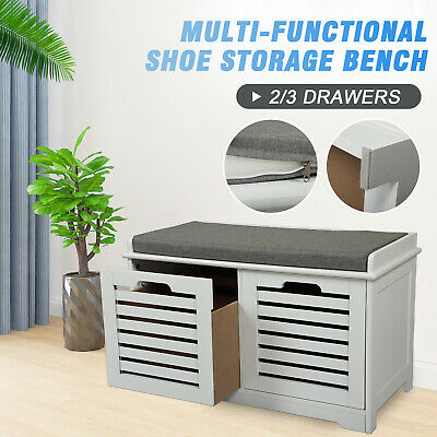 AU89.99 • Buy Entryway Shoe Cabinet Shoes Storage Rack Organizer Bench Household Furniture