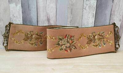 Stunning Vintage Heavy Tapestry Bell Pull With Ornate Brass End Fixings • 55£
