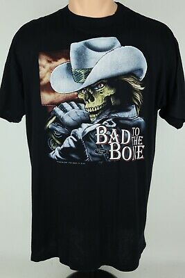 $ CDN603.18 • Buy Vintage 3D Emblem Bad To The Bone Truckers Only XL Single Stitch Graphic T Shirt