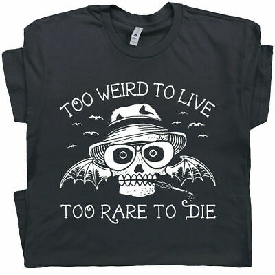 $11.99 • Buy Hunter S Thompson T Shirt Too Weird To Live Fear And Loathing In Las Vegas Tee