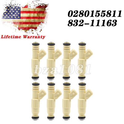 $37.99 • Buy 8Pcs 36lb Fuel Injectors Fits Ford GM V8 LS1 LT1 5.0L 5.7L 380cc 0280155737 NEW