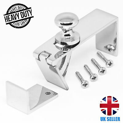 CHROME Silver Counter Flap Catch QUALITY Bar/Shop Counter Hinge With Screws UK • 9.98£