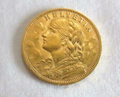 $404.99 • Buy 1927 B Helvetia Swiss Gold Coin 20 Francs